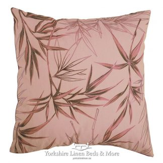 Bamboo Print Cushion Cover Gold Yorkshire Linen Beds & More Mijas Costa Marbella