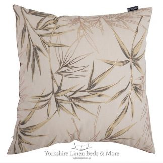 Bamboo Print Cushion Cover Natural Yorkshire Linen Beds & More Mijas Costa Marbella