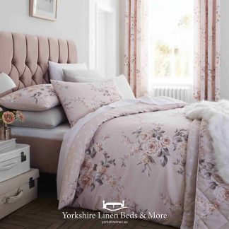 Canterbury Blush Duvet Cover Set - Yorkshire Linen Beds & More Bed Shops Mijas Costa Marbella P01