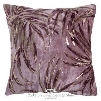 Cassis Palm Cushion Cover Yorkshire Linen Beds & More Mijas Costa Marbella