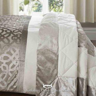 Lattice Cut Velvet Bedspread - Yorkshire Linen Beds & More Bed Shops Mijas Costa Marbella P01