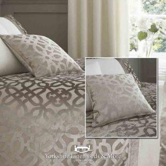 Lattice Cut Velvet Cushion - Yorkshire Linen Beds & More Bed Shops Mijas Costa Marbella P01