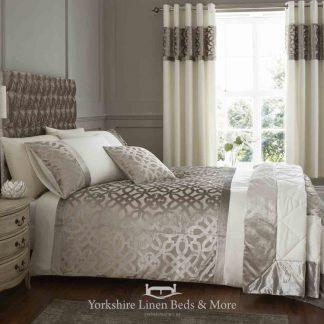 Lattice Cut Velvet Duvet Cover Set - Yorkshire Linen Beds & More Bed Shops Mijas Costa Marbella P01