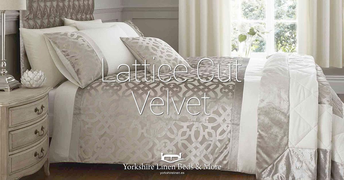 Lattice Cut Velvet - Yorkshire Linen Beds & More Bed Shops Mijas Costa Marbella OG01