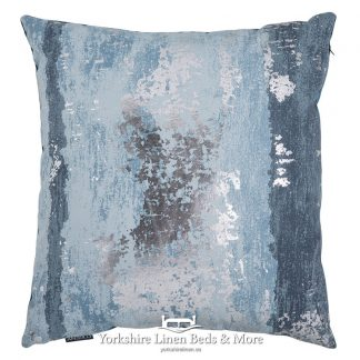 Metallic Splash Cushion Cover Blue Yorkshire Linen Beds & More Mijas Costa Marbella