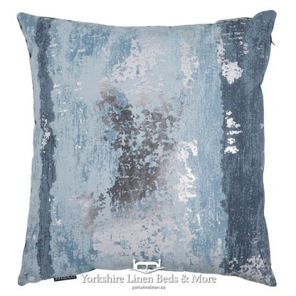 Metallic Splash Cushion Cover Blue Yorkshire Linen Beds & More Mijas Costa Marbella