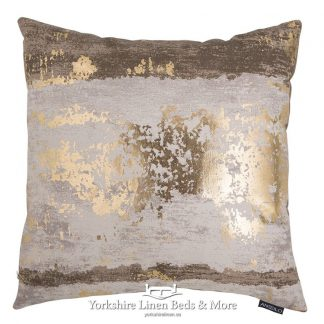 Metallic Splash Cushion Cover Natural Yorkshire Linen Beds & More Mijas Costa Marbella