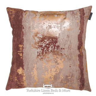 Metallic Splash Cushion Cover Rose Yorkshire Linen Beds & More Mijas Costa Marbella