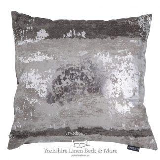 Metallic Splash Cushion Cover Silver Yorkshire Linen Beds & More Mijas Costa Marbella