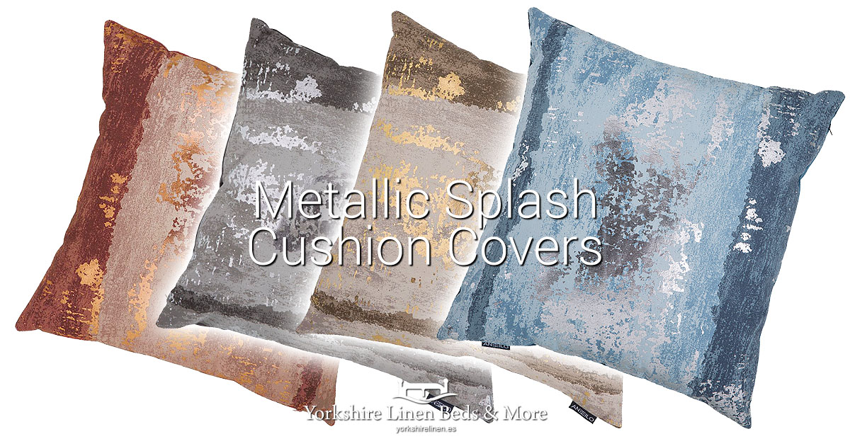 Metallic Splash Cushion Covers New for Autumn Winter 19