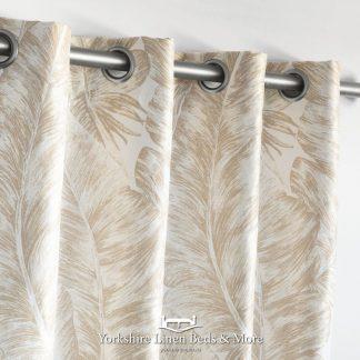 Natural Palm Ringtop Curtain Panel Yorkshire Linen Beds & More Mijas Costa Marbella