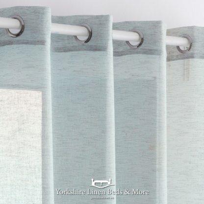 Noelia Linen Style Voile Panel Duck Egg Blue Yorkshire Linen Beds & More Mijas Costa Marbella