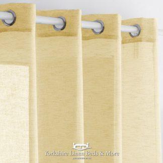 Noelia Linen Style Voile Panel Ochre Yorkshire Linen Beds & More Mijas Costa Marbella
