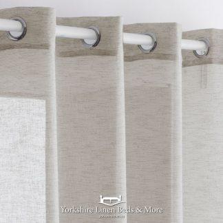Noelia Linen Style Voile Panel Stone Yorkshire Linen Beds & More Mijas Costa Marbella