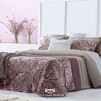 Palm Cassis Bedspread Yorkshire Linen Beds & More Mijas Costa Marbella