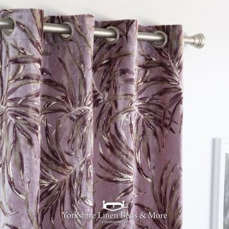 Palm Cassis Curtain Panel Yorkshire Linen Beds & More Mijas Costa Marbella