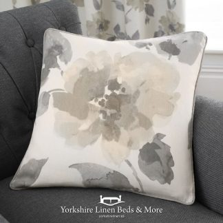 Adriana Floral Natural Ring Top Cushions - Yorkshire Linen Beds & More Bed Shops Mijas Costa Marbella P01