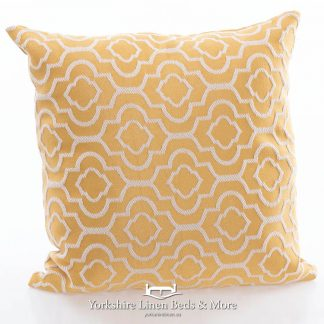 Colonial Ochre Square Cushion - Yorkshire Linen Beds & More Bed Shops Mijas Costa Marbella P01