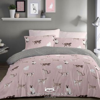 Dotty Cats Duvet Cover Set - Yorkshire Linen Beds & More Bed Shops Mijas Costa Marbella P01