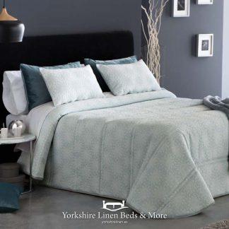 Goma Duck Egg Bedspread - Yorkshire Linen Beds & More Bed Shops Mijas Costa Marbella P01