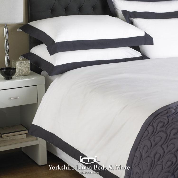 Harvard Navy Duvet Cover Set, Yorkshire Linen Bedding Sets