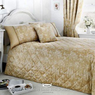 Jasmine Bedspread Champagne - Yorkshire Linen Beds & More Bed Shops Mijas Costa Marbella P01
