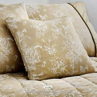 Jasmine Cushion Cover Champagne - Yorkshire Linen Beds & More Bed Shops Mijas Costa Marbella P01