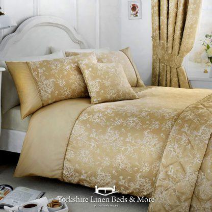 Jasmine Duvet Cover Champagne - Yorkshire Linen Beds & More Bed Shops Mijas Costa Marbella P01