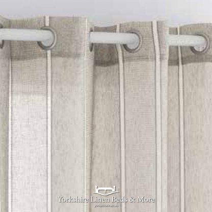 Julia Beige Ringtop Voile Panel - Yorkshire Linen Beds & More Bed Shops Mijas Costa Marbella P01