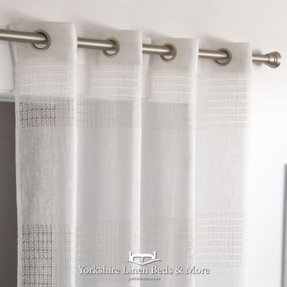 Kassia Ringtop Voile Panel White - Yorkshire Linen Beds & More Bed Shops Mijas Costa Marbella P01