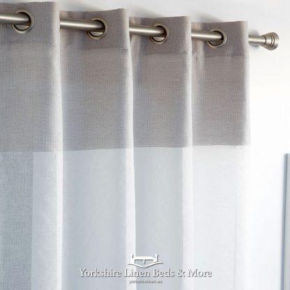 Marlene Voile Panel Grey - Yorkshire Linen Beds & More Bed Shops Mijas Costa Marbella P01