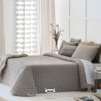 Naroa Bedspread Beige - Yorkshire Linen Beds & More Bed Shops Mijas Costa Marbella P01