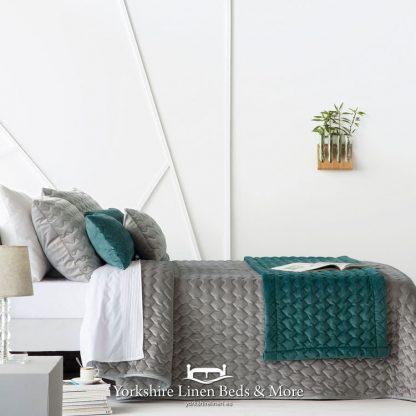 Naroa Bedspread Grey - Yorkshire Linen Beds & More Bed Shops Mijas Costa Marbella P01