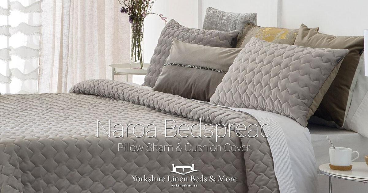 Naroa Bedspread Pillow Sham Cushion Cover - Yorkshire Linen Beds & More Bed Shops Mijas Costa Marbella OG01