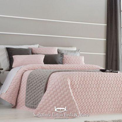 Naroa Bedspread Pink - Yorkshire Linen Beds & More Bed Shops Mijas Costa Marbella P01