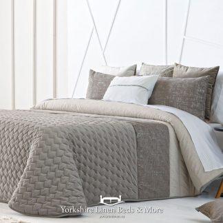 Sima Luxury Bedspread Beige - Yorkshire Linen Beds & More Bed Shops Mijas Costa Marbella P01