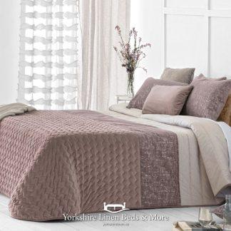 Sima Luxury Bedspread Mauve - Yorkshire Linen Beds & More Bed Shops Mijas Costa Marbella P01