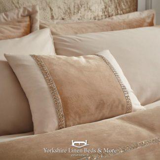 Velvet Diamante Glamour Complete Cushion - Yorkshire Linen Beds & More Bed Shops Mijas Costa Marbella P01