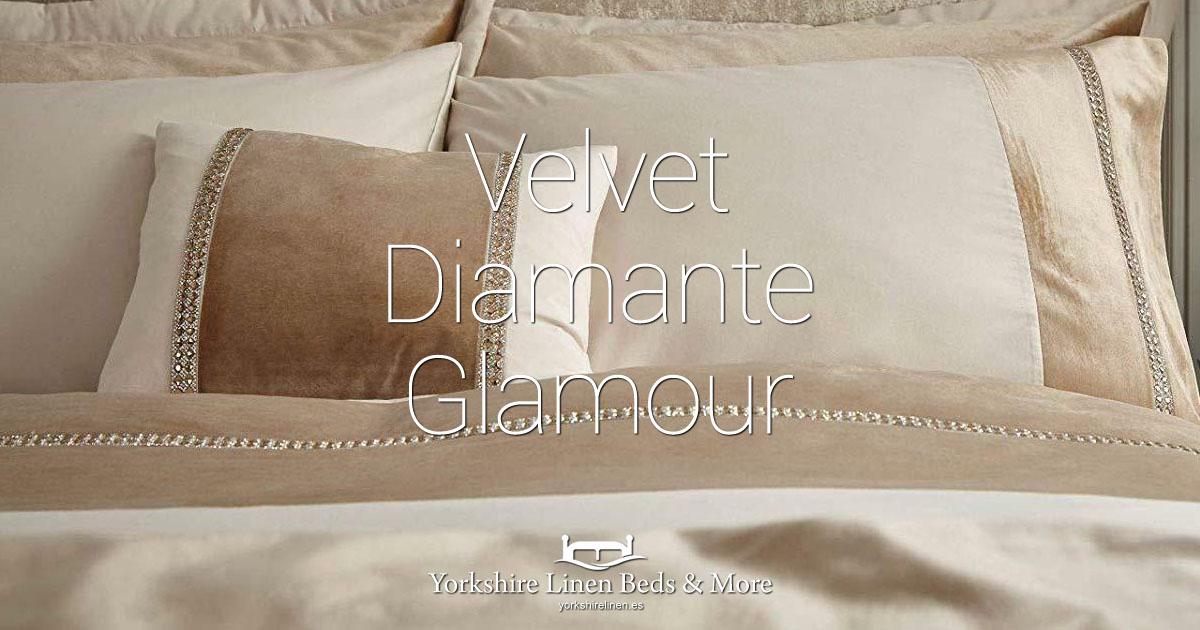 Velvet Diamante Glamour - Yorkshire Linen Beds & More Bed Shops Mijas Costa Marbella OG01