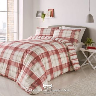 Balmoral Duvet Cover Set Red - Yorkshire Linen Beds & More Bed Shops Mijas Costa Marbella P01