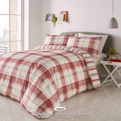 Balmoral Duvet Cover Set Red - Yorkshire Linen Beds & More Bed Shops Mijas Costa Marbella P01