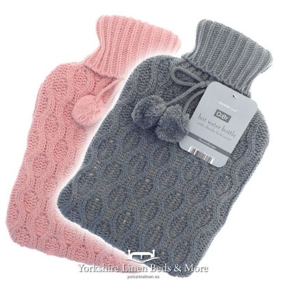Luxury Knitted Hot Water Bottles - Yorkshire Linen Beds & More Bed Shops Mijas Costa Marbella P01