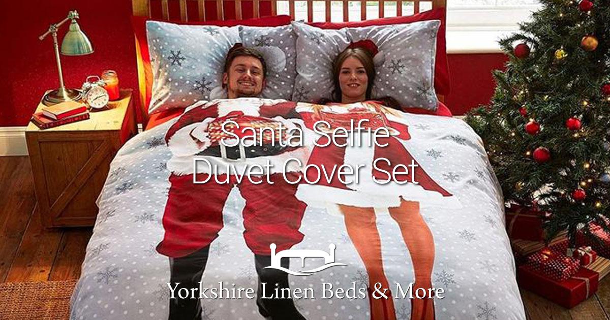 Santa Selfie Duvet Cover Set - Yorkshire Linen Beds & More Bed Shops Mijas Costa Marbella OG02