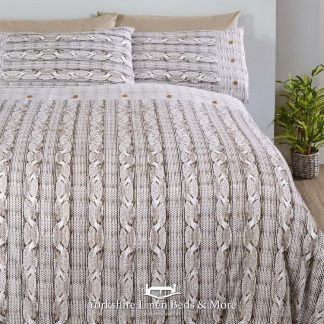 Aron Flannelette Duvet Cover Natural - Yorkshire Linen Beds & More Bed and Linen Shops Mijas Costa Marbella P01