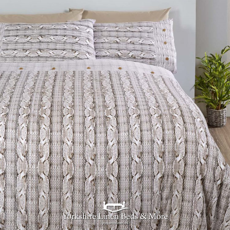 Aron Flannelette Duvet Cover Natural Yorkshire Linen Beds And More