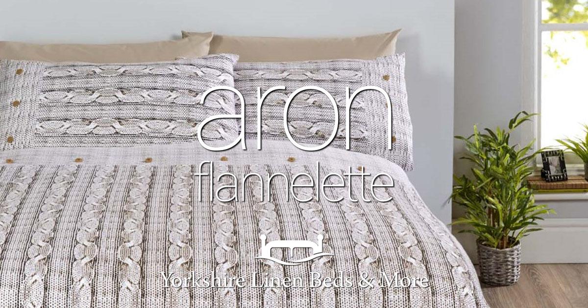 Aron Flannelette Duvet Cover Sets - Yorkshire Linen Beds & More Bed and Linen Shops Mijas Costa Marbella OG01