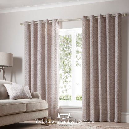 Franklin Copper Ring Top Curtains - Yorkshire Linen Beds & More Bed and Linen Shops Mijas Costa Marbella P01