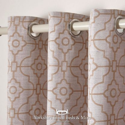 Franklin Copper Ring Top Curtains - Yorkshire Linen Beds & More Bed and Linen Shops Mijas Costa Marbella P02