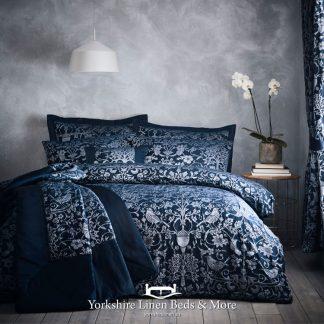 Oak Tree Duvet Cover Set Navy - Yorkshire Linen Beds & More Bed Shops Mijas Costa Marbella P01