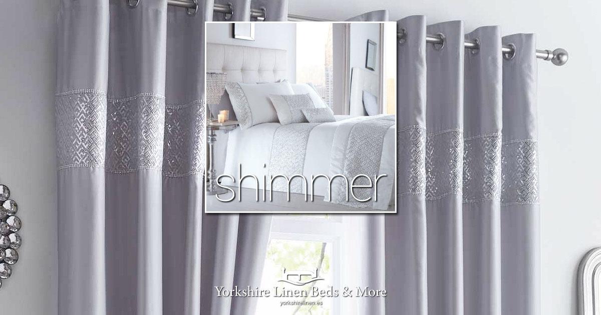 Shimmer Eyelet Curtains Duvet Cover Sets - Yorkshire Linen Beds & More Bed and Linen Shops Mijas Costa Marbella OG01